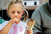 father and child stock photography | New Mexico, Santa Fe, Young girl eating Ice Cream, image id S4-351-12