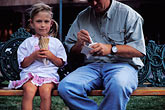 parent and child stock photography | New Mexico, Santa Fe, Young girl eating Ice Cream, image id S4-351-19