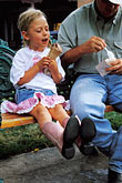 father and child stock photography | New Mexico, Santa Fe, Young girl eating Ice Cream, image id S4-351-2