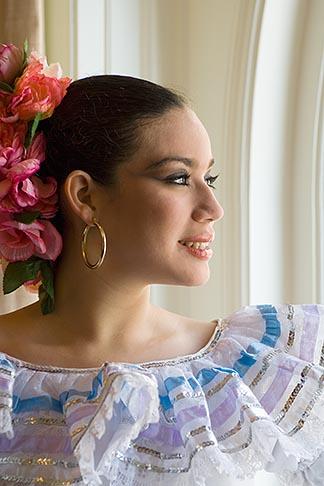image 6-465-6977 Portraits, Nicaraguan dancer in traditional folk costume