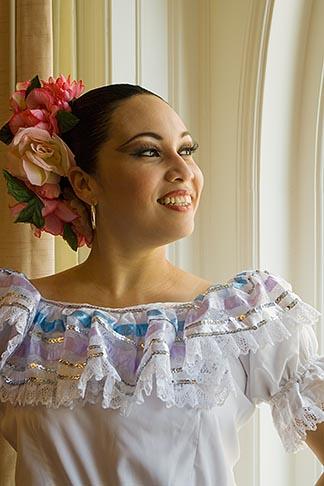 image 6-465-6995 Portraits, Nicaraguan dancer in traditional folk costume