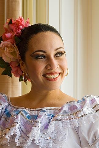image 6-465-7001 Portraits, Nicaraguan dancer in traditional folk costume