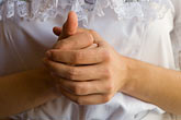white dress stock photography | Portraits, Woman in white dress, closeup of hands, image id 6-465-7004