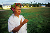 garland stock photography | Niue, Niuean woman, Hakupu, image id 9-501-62