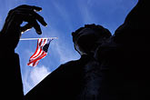 american flag and sky stock photography | California, Oakland, Jack London Square, image id 0-297-2