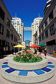town square stock photography | California, Oakland, City Center Plaza, image id 1-99-11