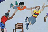 school mural stock photography | California, East Palo Alto, School Mural, image id 3-234-14