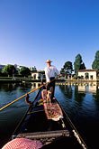person stock photography | California, Oakland, Lake Merritt, Gondola Servizio, image id 4-729-30