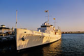horizontal stock photography | California, Oakland, Jack London Square, USS Potomac, image id 4-729-99