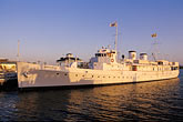 pier stock photography | California, Oakland, Jack London Square, USS Potomac, image id 4-730-3