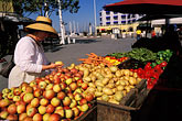 town square stock photography | California, Oakland, Jack London Square, Farmer