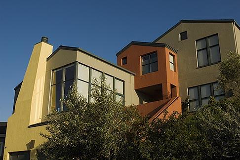 image 4-739-3 California, Oakland, Oakland Hills, rebuilt house