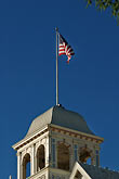 american and california flags stock photography | California, Berkeley, Claremont Resort and Spa, image id 4-741-8