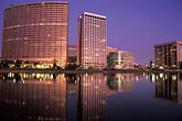 lake merritt stock photography | California, Oakland, Downtown skyline at dawn from Lake Merritt, image id 5-102-6