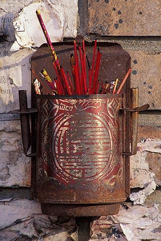 image 6-309-30 California, Oakland, Incense holder, Chinatown