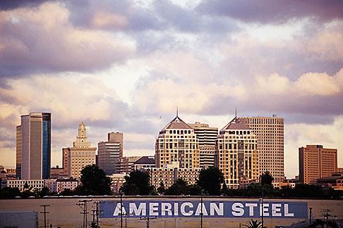 image 9-444-31 California, Oakland , City skyline at sunset