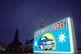 blue sky stock photography | California, Oakland, Sign, image id S2-20-6