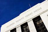 sign stock photography | California, Oakland, Alameda County Courthouse, image id S5-60-3342