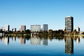 reflection stock photography | California, Oakland, Lake Merritt, image id S5-60-3482