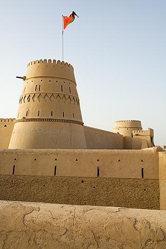 image 8-730-9829 Oman, Buraimi, Al Khandaq Fort, and Omani flag