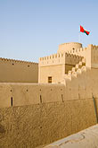 patriotism stock photography | Oman, Buraimi, Al Khandaq Fort, walls and ramparts, image id 8-730-9844