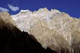 blue stock photography | Pakistan, Karakoram Highway, Karakoram peaks near Passu, image id 4-444-6
