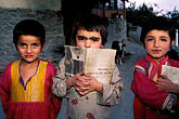 three girls stock photography | Pakistan, Hunza, Karimabad, Young children, image id 4-452-15
