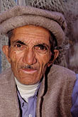 pensive stock photography | Pakistan, Hunza, Karimabad, Caretaker, Baltit Fort, image id 4-452-20