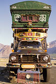 vertical stock photography | Pakistan, Decorated truck, Gilgit, image id 4-459-32