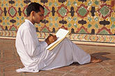 seated stock photography | Pakistan, Lahore, Calligrapher, Wazir Khan Mosque, image id 4-467-20