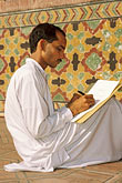 sit stock photography | Pakistan, Lahore, Calligrapher, Wazir Khan Mosque, image id 4-467-22
