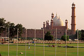 badshahi mosque and city park stock photography | Pakistan, Lahore, Badshahi Mosque and city park, image id 4-475-9