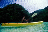 one woman only stock photography | Palau, Rock Islands, Kayaking, image id 8-100-12