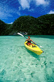 calm stock photography | Palau, Rock Islands, Kayaking, image id 8-100-2