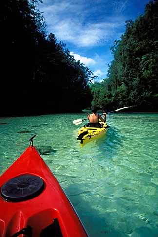 image 8-101-2 Palau, Rock Islands, Two kayaks
