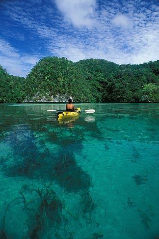 image 8-101-20 Palau, Rock Islands, Kayaking