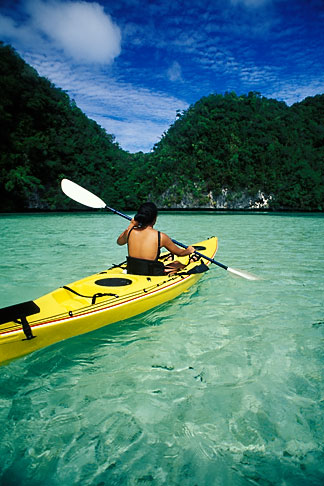 image 8-101-30 Palau, Rock Islands, Kayaking
