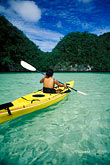 one woman only stock photography | Palau, Rock Islands, Kayaking, image id 8-101-30