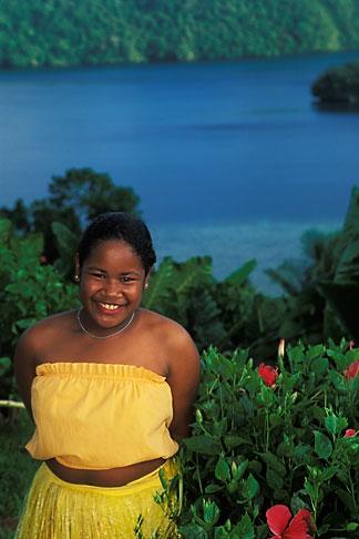 image 8-106-7 Palau, Portrait of young dancer