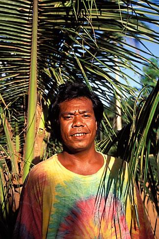 image 8-110-25 Palau, Babeldaob, Palauan man, Ngardmau