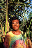 palm tree stock photography | Palau, Babeldaob, Palauan man, Ngardmau , image id 8-110-25