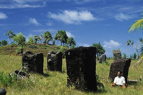 image 8-117-31 Palau, Babeldaob, Stone monoliths, Badrulchau