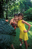 two teenagers stock photography | Palau, Koror, Women in the garden of the Museum, image id 8-73-6
