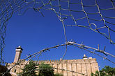 barbed wire stock photography | Palestine, West Bank, Hebron, Mosque of Abraham, image id 9-350-39