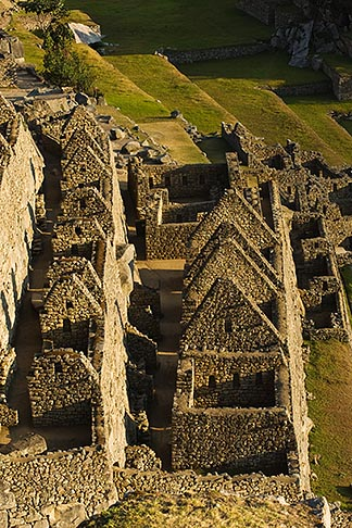 image 8-760-1445 Peru, Machu Picchu, Machu Picchu Inca ruins, stone houses