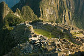 plaza stock photography | Peru, Machu Picchu, Sacred Plaza and agricultural terraces, image id 8-760-1467