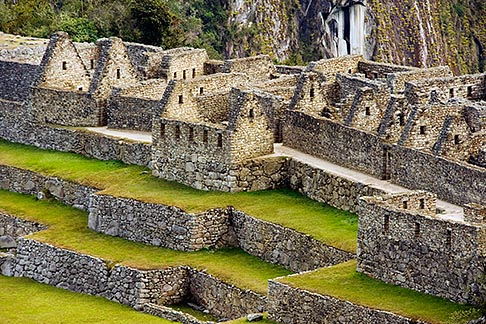 image 8-760-1479 Peru, Machu Picchu, Inca ruins, stone houses