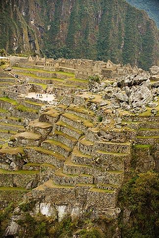 image 8-760-1493 Peru, Machu Picchu, Inca agricultural terraces