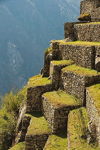 image 8-760-1655 Peru, Machu Picchu, Inca agricultural terraces