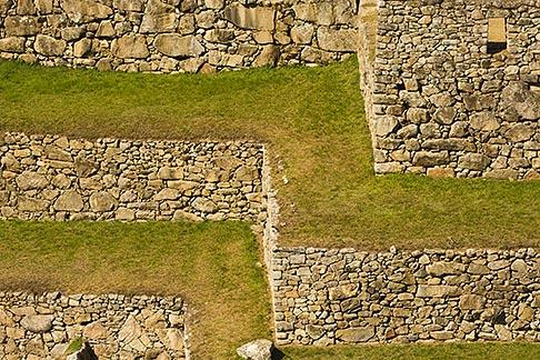 image 8-760-1666 Peru, Machu Picchu, Inca agricultural terraces
